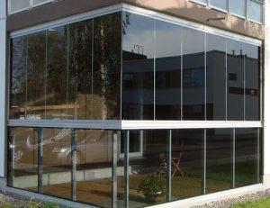 Раздвижные стеклянные фасады