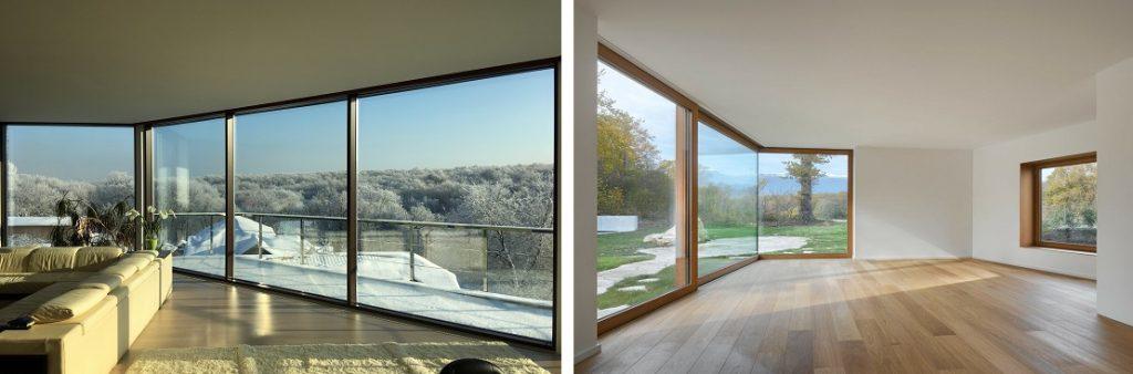 Угловые окна для дома