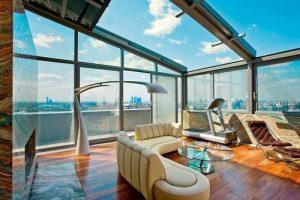 Панорамное остекление крыши
